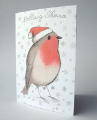 Happy Chirstmas - Robin (white)